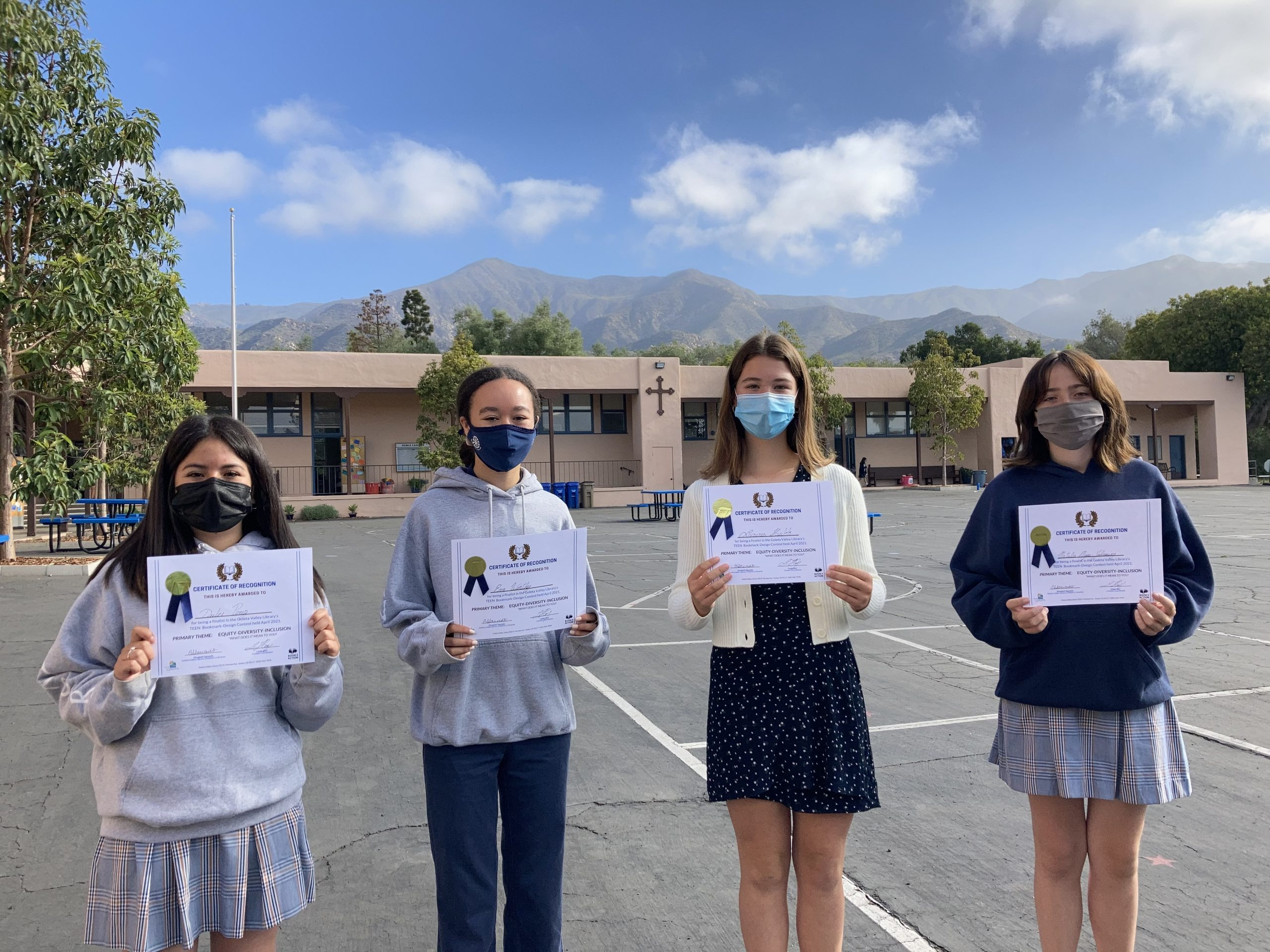 Teen bookmark Contest winners from Goleta Valley Library